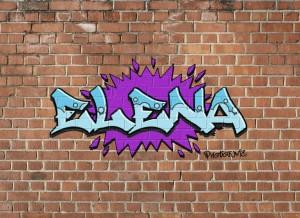 Elena graffitti