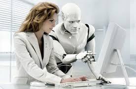 robot y persona